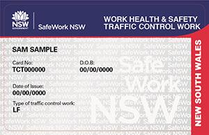 Traffic control work training card