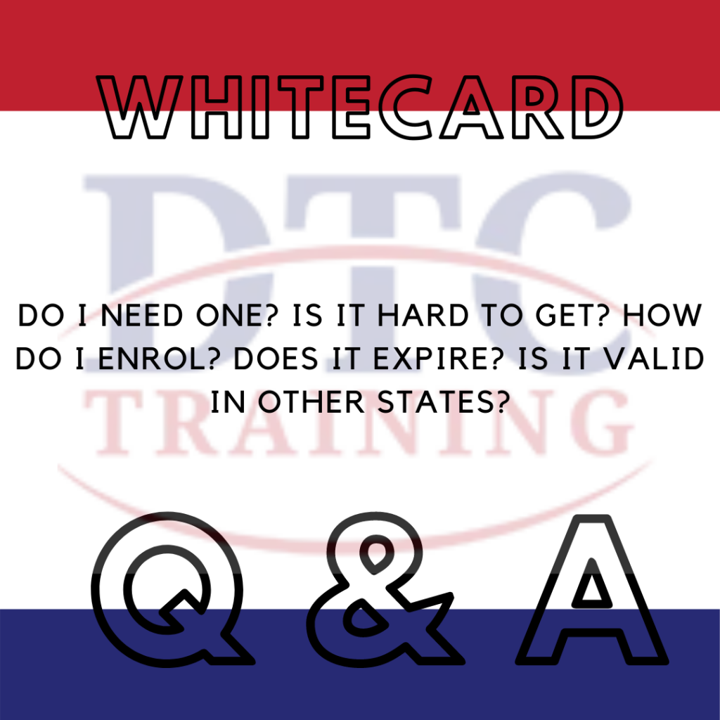 The right steps to get your White Card.